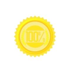 Satisfaction guarantee label icon cartoon style vector image