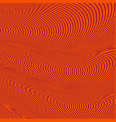 Abstract wavy geometric red pattern vector