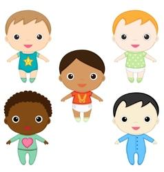baby boys vector image vector image