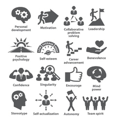 Business management icons Pack 16 vector image