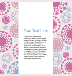 card with geometric pattern of colored circles vector image vector image