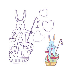 coloring book for kids the easter bunny is the vector image