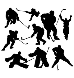 hockeyplayers vector image vector image