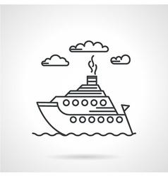 Steamship black line icon vector image