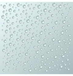 Background with a lot of water drops vector image vector image