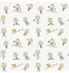 Children play seamless wallpaper vector image vector image