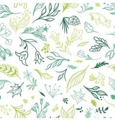 Eco Sketch Spring Pattern vector image