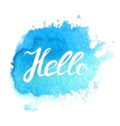 Hand lettering with phrase Hello vector image