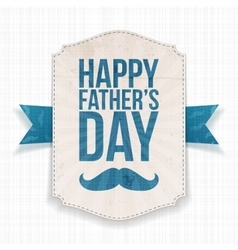 Happy fathers day festive banner with ribbon vector