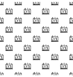 Money online on computer pattern simple style vector image vector image