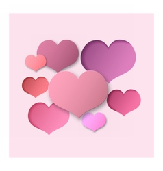 Pink Abstract Background Hearts vector image vector image