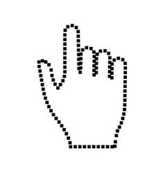 pixel hand vector image vector image