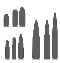 Set of Bullets Silhouettes vector image vector image