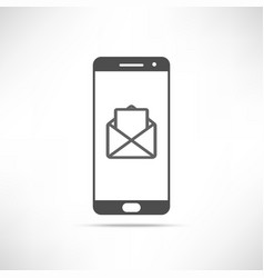 Smartphone message icon vector