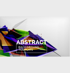 3d triangle geometric background design modern vector image