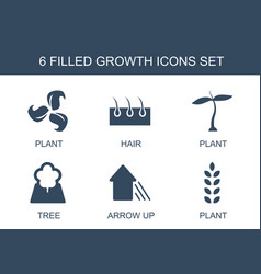 6 growth icons vector