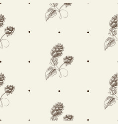 abstract herbal sketch seamless pattern vector image