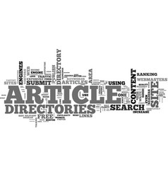 article directories play an important role in seo vector image