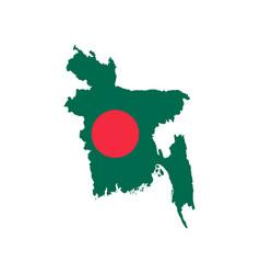 Bangladesh map and flag vector