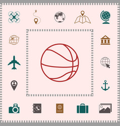 basketball ball line icon elements for your vector image