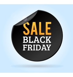 Black Friday sale badges vector image