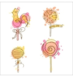 Candy Set of 4 hand drawn vector