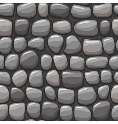 Cartoon gray stone texture seamless vector