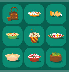 Chinese cuisine tradition food dish delicious asia vector