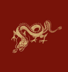 chinese dragon mythological animal or asian vector image