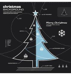 Christmas tree infographic design vector