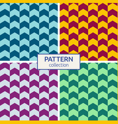 color geometric seamless pattern vector image