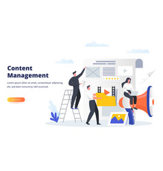 Content management business concept experts fill vector