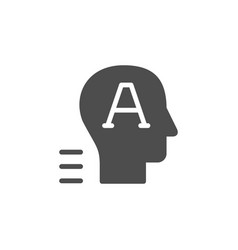 Copywriter or content manager glyph icon vector