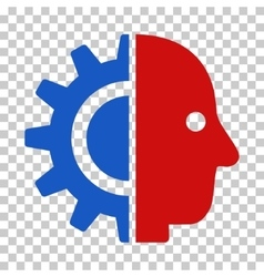 Cyborg head icon vector