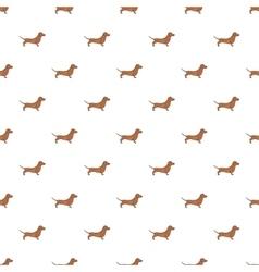 Dachshund dog pattern cartoon style vector image