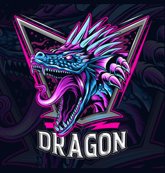 dragon as an e-sport logo or mascot and symbol vector image