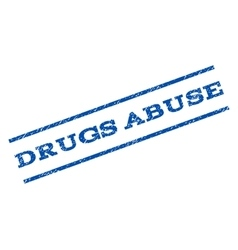 Drugs Abuse Watermark Stamp vector