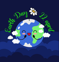 earth day 22 april banner vector image