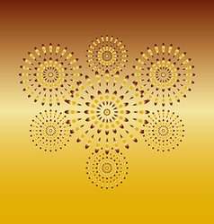 Fireworks gold on gold background vector image