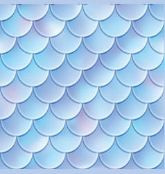 fish scales seamless pattern mermaid tail texture vector image