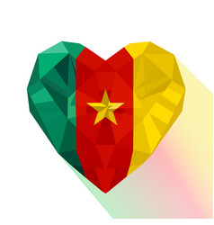 Flag of the republic of cameroon vector