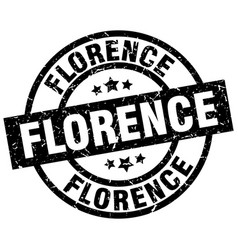 Florence black round grunge stamp vector
