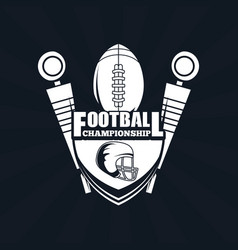 football championship icon vector image