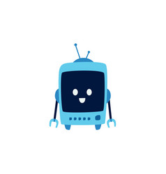 funny cute robot and machine from future with vector image