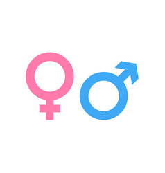 gender icon and male female symbol vector image