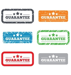Guarantee sign icon Certificate symbol vector