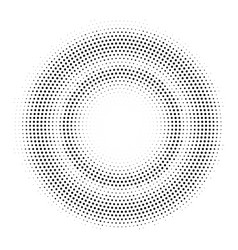 halftone double circle frame template vector image