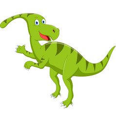 happy dinosaur cartoon vector image