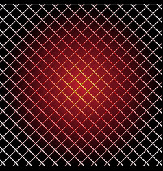hot iron wire mesh and shadow on black vector image