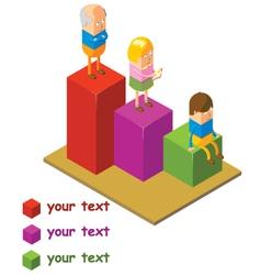 Human Chart vector image